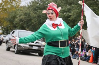 Cheerful Clowns on Parade in Conroe, Texas
